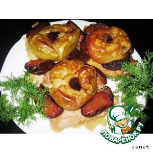 Рецепт Свинина с яблоком и сливами