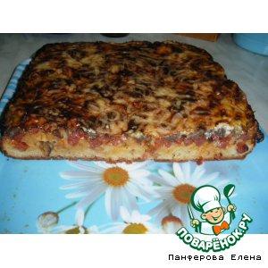 Рецепт Пицца на тесте из кефира и майонеза