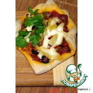 Рецепт Пицца порционная с цветной капустой и ананасами