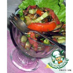 """Рецепт Овощной салатик """"Дивная пора"""""""