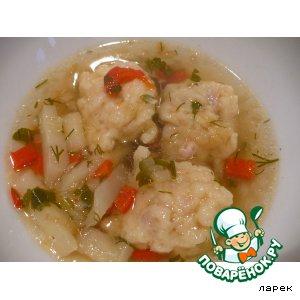 Рецепт Галушки с салом для супа