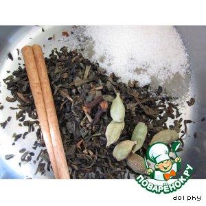 Рецепт Пряный зеленый чай