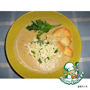 Рецепт Суп-пюре грибной с картофелем и цуккини
