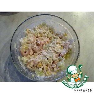 Рецепт Тайский салат с креветками