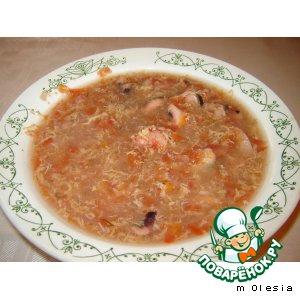 Рецепт Суп из морепродуктов по-флорентийски