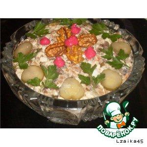Рецепт Салат  с сыроежками