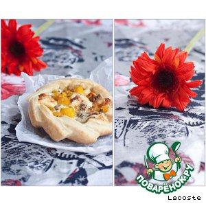 Рецепт Открытые пирожки с тыквой и сыром