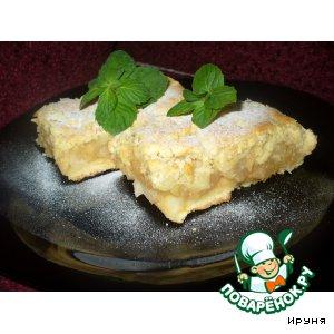 Рецепт Яблочный пирог с вином