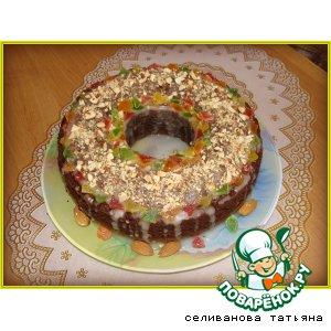 Рецепт Шоколадный кекс с цукатами и миндалем