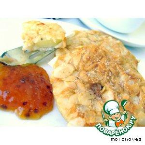 Рецепт Яблоки в пивном кляре с миндалeм