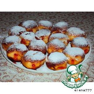 Рецепт Берлинеры с клубничной начинкой
