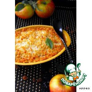 Рецепт Яблочный крамбль с кокосом