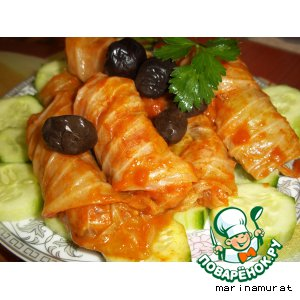 Рецепт Голубчики с морковью и грецкими орехами