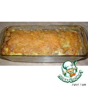 Рецепт Запеканка мясная с грибами и зеленью