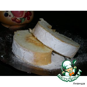 Рецепт Бисквитный рулет с кремом из тыквы