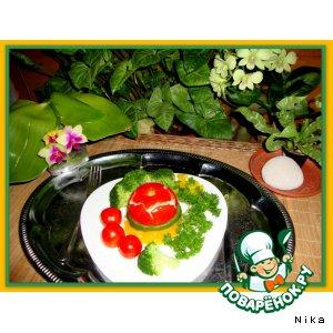 Рецепт Яичница  в  помидорах  и  болгарском  перце