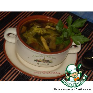 Рецепт Тайский суп с огурцами