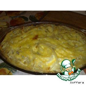 Рецепт Запеканка  с курицей и айвой