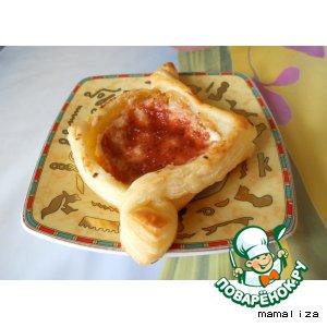 Рецепт Слоeные творожно-яблочные ватрушки