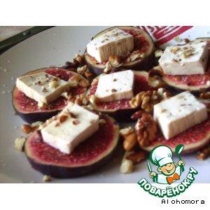 Рецепт Закуска из инжира и тофу
