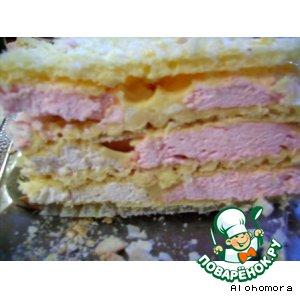 Рецепт Тортик вафельный