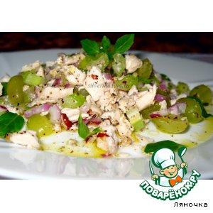 Рецепт Салат из курицы, сельдерея и винограда