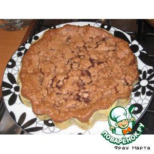 Рецепт Шоколадный грушевый пирог