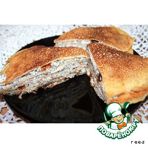 Как готовить Блинный пирог простой пошаговый рецепт с фотографиями