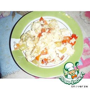 """Рецепт Блюдо для завтрака """"Перец с яйцом"""""""