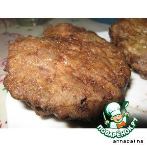 Рецепт Бифштекс рубленый с сыром в микроволновке