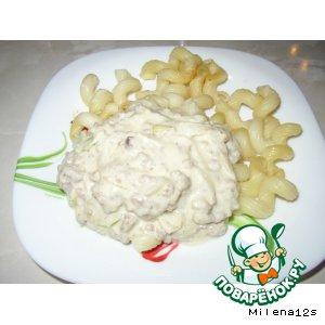 Рецепт Мясной соус с сельдереем и плавленым сыром
