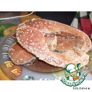 Рецепт Лосось-гриль в маринаде