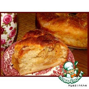 Рецепт Творожный венок с ореховой начинкой