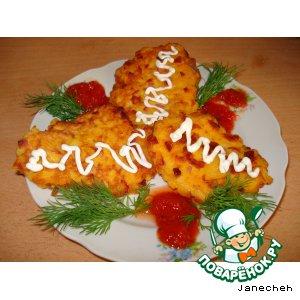 Рецепт Тыквенные оладушки с колбасой