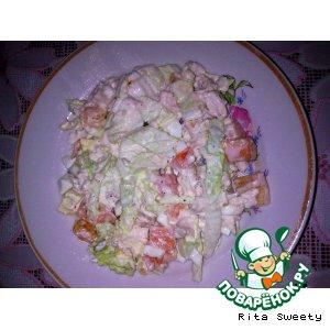 Рецепт Cалат с курицей и овощами