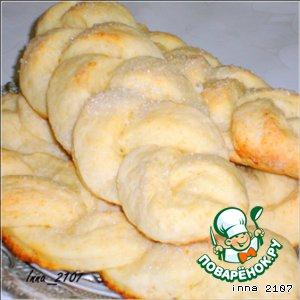 Рецепт Творожные булочки-косички