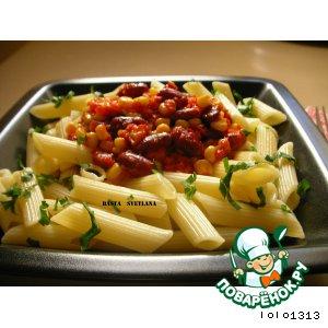 Рецепт Паста с кукурузой и красной фасолью