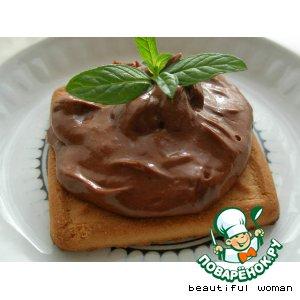 Рецепт Сливочный крем из нуги и шоколада