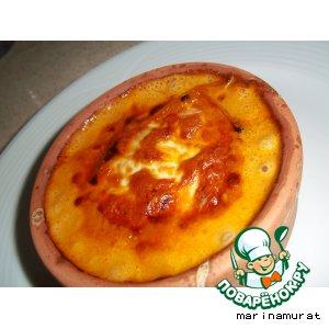 Рецепт Karidesli-mantarli guvec или жюльен с креветками и грибами