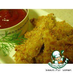 Рецепт Куриное филе в панировке из миндаля и крекера