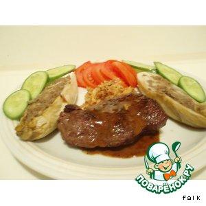 Рецепт Бифштекс из страуса с коньячно-медовым соусом