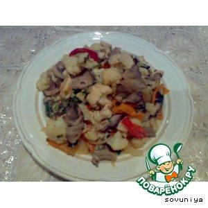 Рецепт Рагу овощное с грибами  из духовки