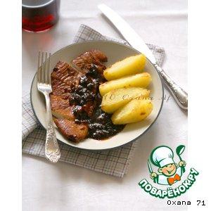 Рецепт Куриные грудки с соусом из джема шиповника