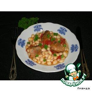Рецепт Фасоль с мясом из духовки
