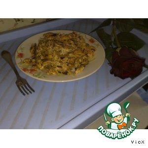 Рецепт Горячий салат из мидий
