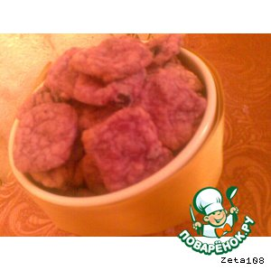 Рецепт Фиолетовое печенье