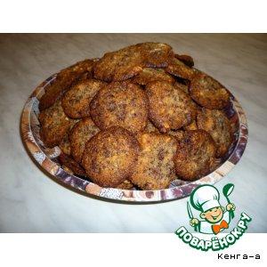 """Рецепт Шоколадное печенье с орехами """"Любимое"""""""