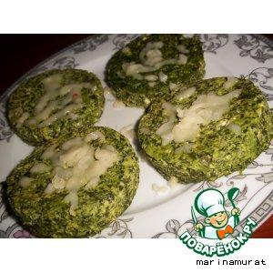 Рецепт Parmesan Spinach Cakes - Кексы из шпината с пармезаном