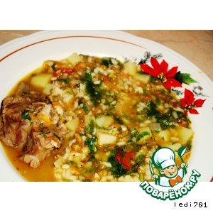 Рецепт Суп из баранины и маша
