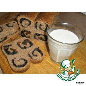 Рецепт Сладкий хлеб - завитушка с маком и сухофруктами